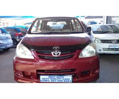 2009 Toyota Avanza 1.3 Engine Capacity with Manuel Transmission,
