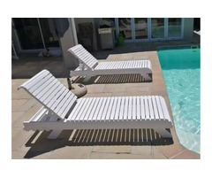 Wooden Pool Loungers
