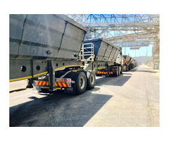 34 TON SIDE TIPPER TRUCKS FOR HIRE 068 448 9871