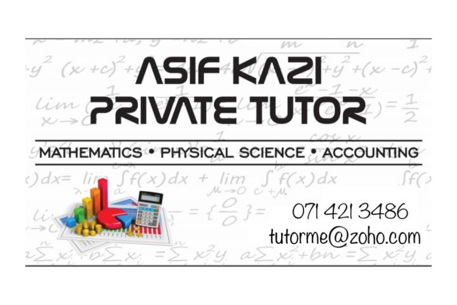 Maths Science and Accounting tutoring