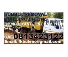 WESTRAND RUBBLE REMOVALS  DEMOLISHING & EXCAVATIONS 0813423122
