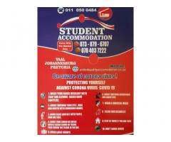 Student Accommodation in Johannesburg-City Central and surrounding areas.