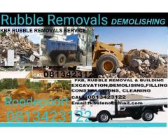 RUBBLE REMOVALS BUILDING DEMOLISHING  SERVICE ROODEPOORT 0813423122