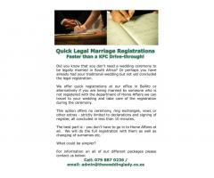 Micro Weddings and Marriage Registrations