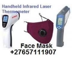 Infrared Laser Thermometer & Face Mask Distance-To-Spot COVID-19 @ +27657111907