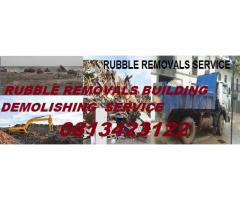 ROODEPOORT RUBBLE REMOVALS BUILDING DEMOLISHING  SERVICE 0813423122