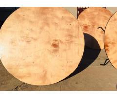 Pre loved Plywood 10 seater round tables for SALE