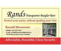 Transparent Burglar Guards