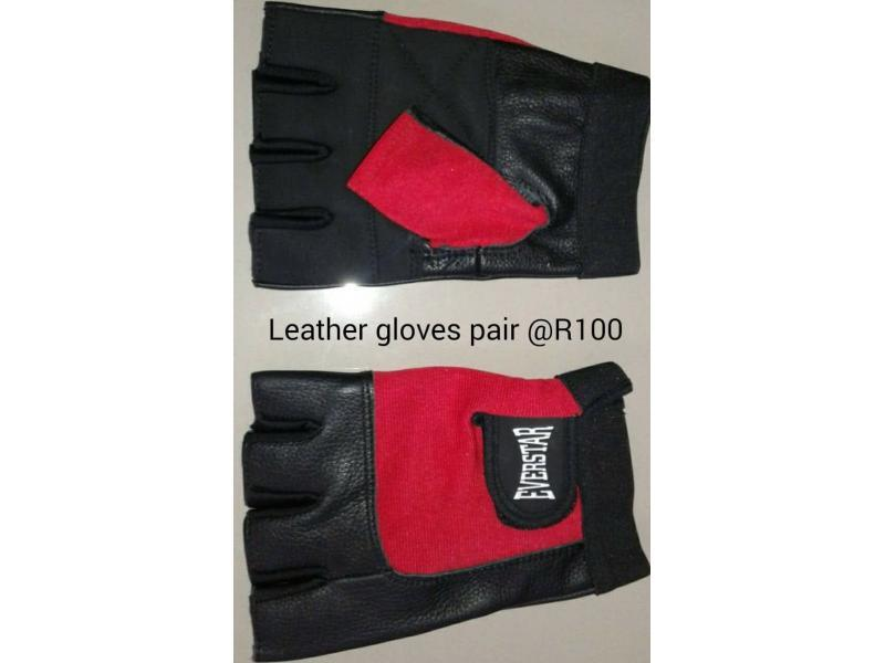 real leather gym gloves