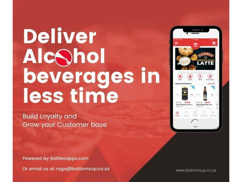 BottomsUp Alcohol Delivery Mobile App services