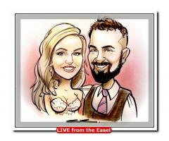 3 minute Caricature Sketches at Weddings - Live Entertainment by Caricature Artist.