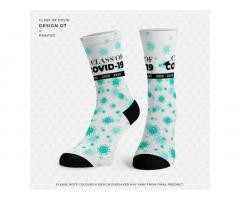 "BUY 1 GET 1 FREE - ""Class of COVID"" socks"