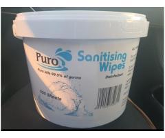 Puro sanitizing wipes
