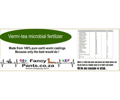 Worm castings & vermi tea liquid microbial fertilizer