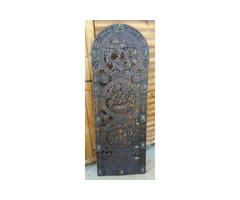 19th Century Antique African Cameroon Royal Door With Pierced Wood Carved Decorations.