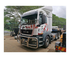 2013 MAN TGS 24,480 and a 2008 Road Hog trailer