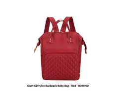 Quilted Nylon Backpack Baby Bag