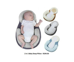 2 in 1 Baby Sleep Pillow - Assorted Colours