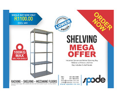 Best prices on bolted shelving